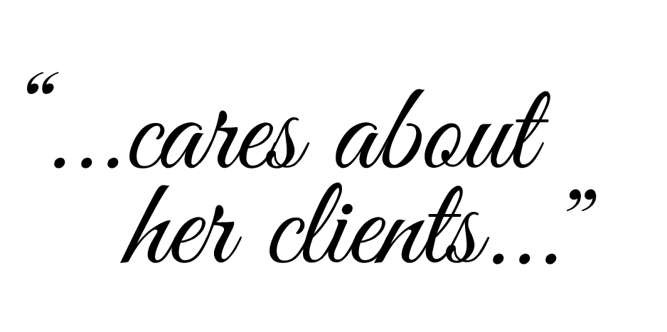 cares about her clients white 300x150 030816 001